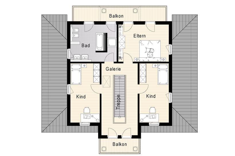 Mediterane villa 180 m for Grundriss villa modern