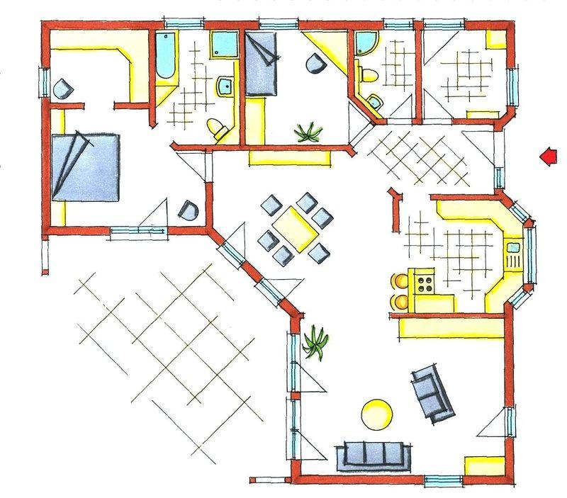 Fertighaus bungalow grundriss  Bungalow 130 m²